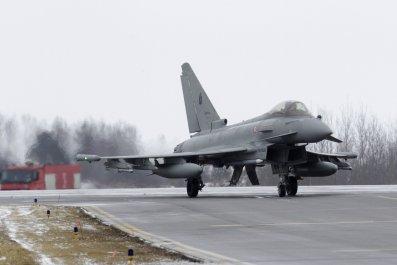 NATO air police jet