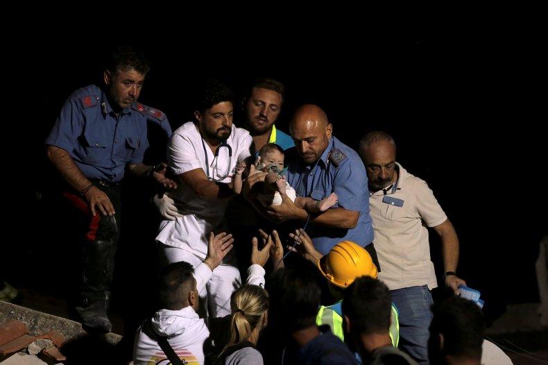 Baby rescued ischia