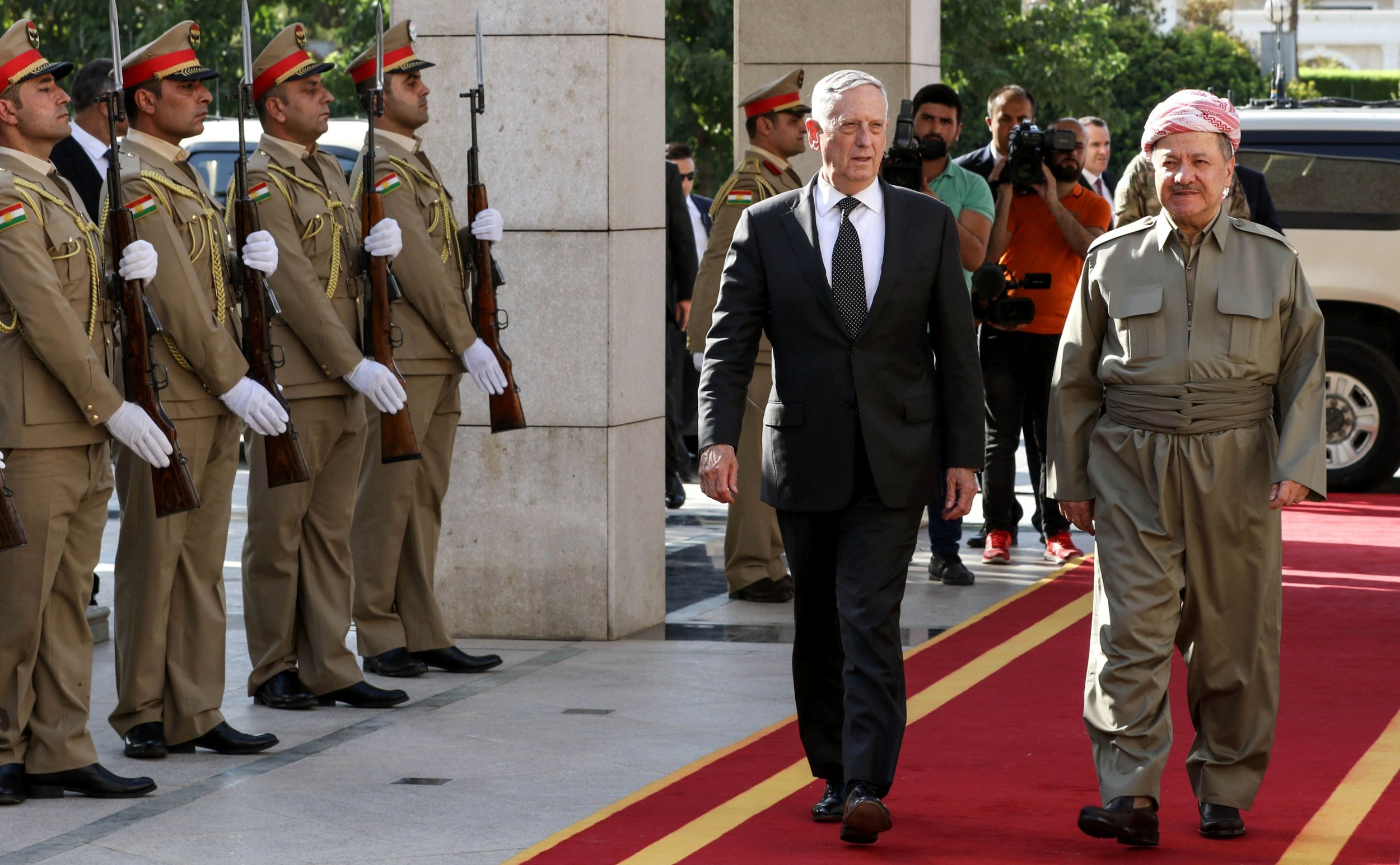 Massoud Barzani and Mattis