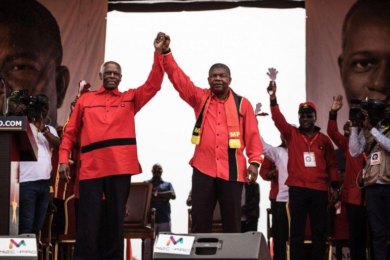 Angola election rally