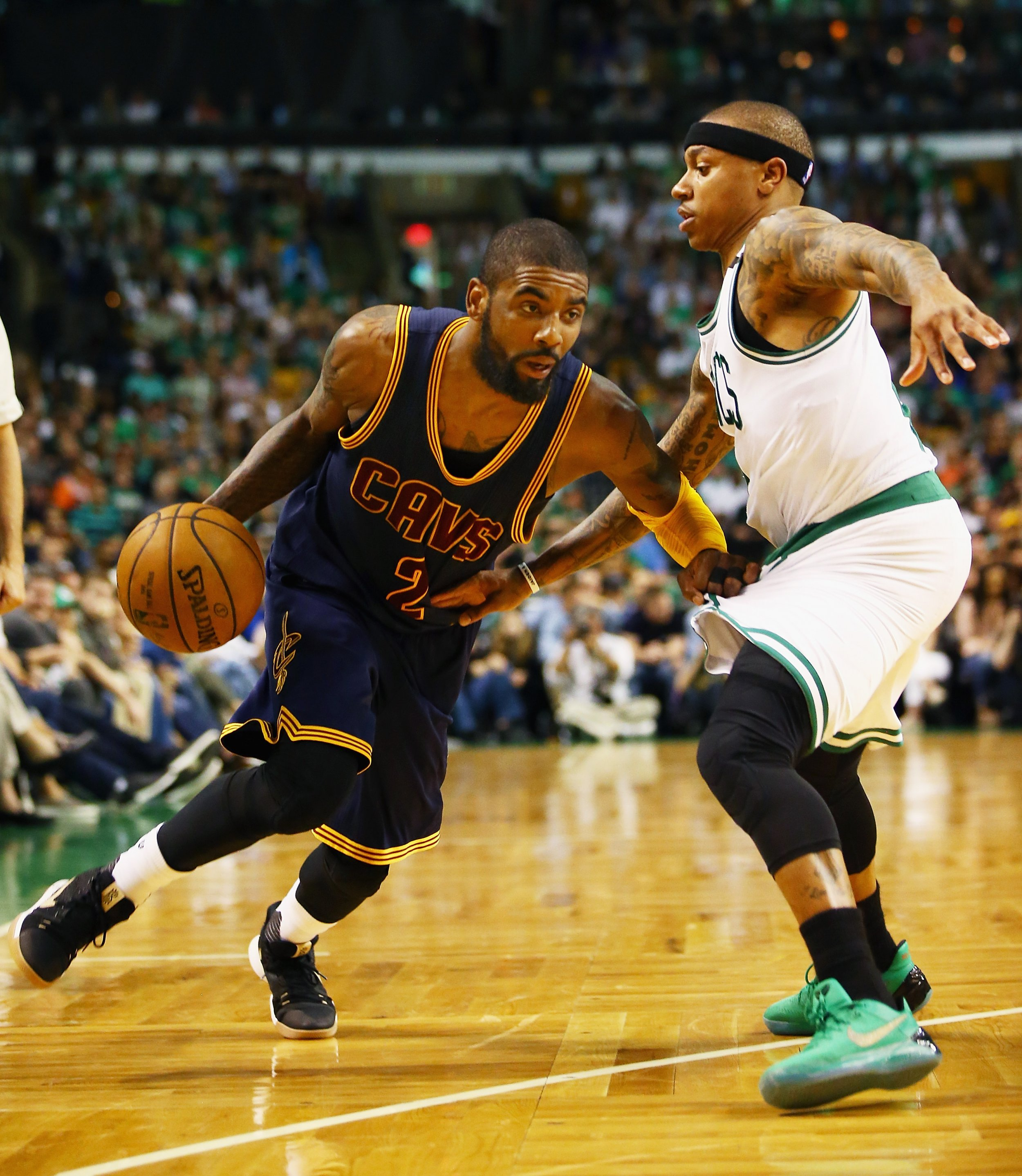 Kyrie Irving, left, and Isaiah Thomas.