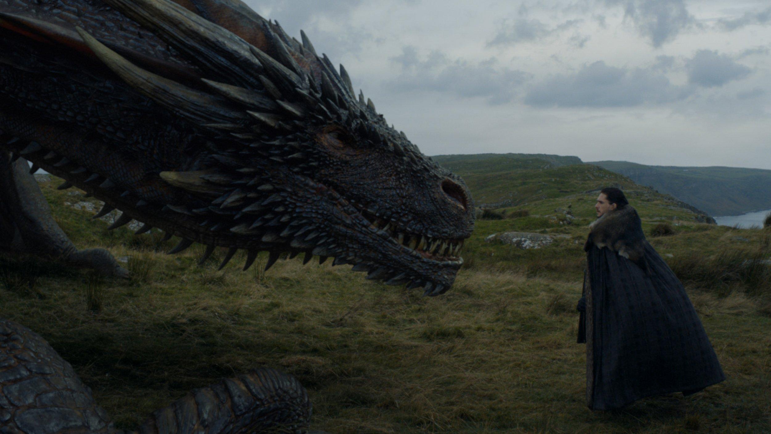 Game of Thrones - Jon Snow meets Drogon