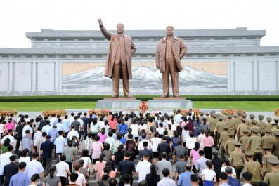 North Korea monument