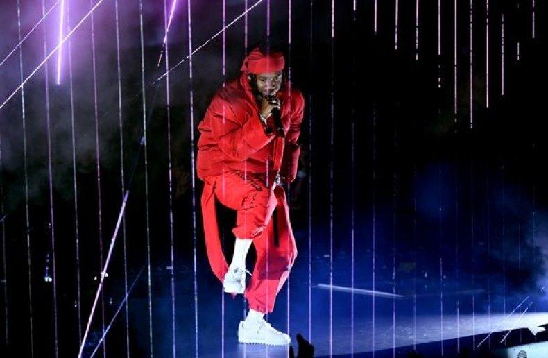 Kendrick Lamar performs at the 2017 MTV Video Music Awards