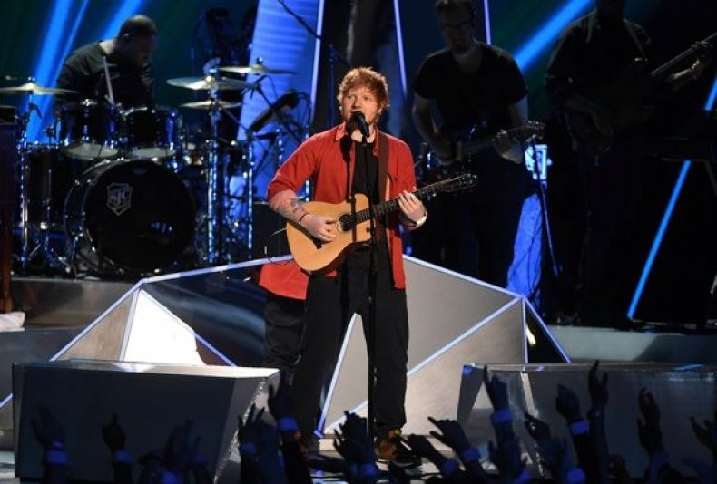 Ed Sheeran performs onstage during the 2017 MTV Video Music Awards