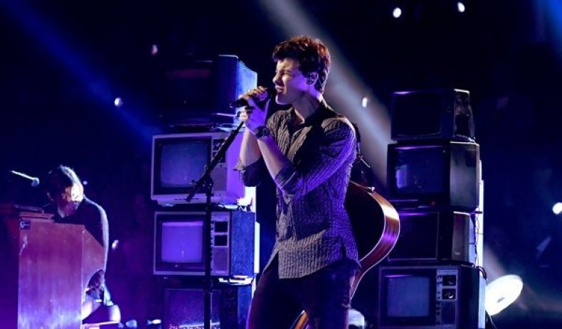Shawn Mendes performs onstage during the 2017 MTV Video Music Award
