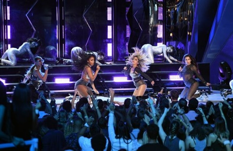 Fifthy Harmony perform onstage during the 2017 MTV Video Music Awards