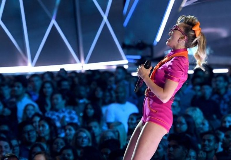 Miley Cyrus performs onstage during the 2017 MTV Video Music Awards