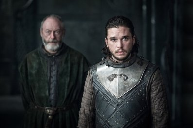 Ser Davos and Jon Snow in Game of Thrones