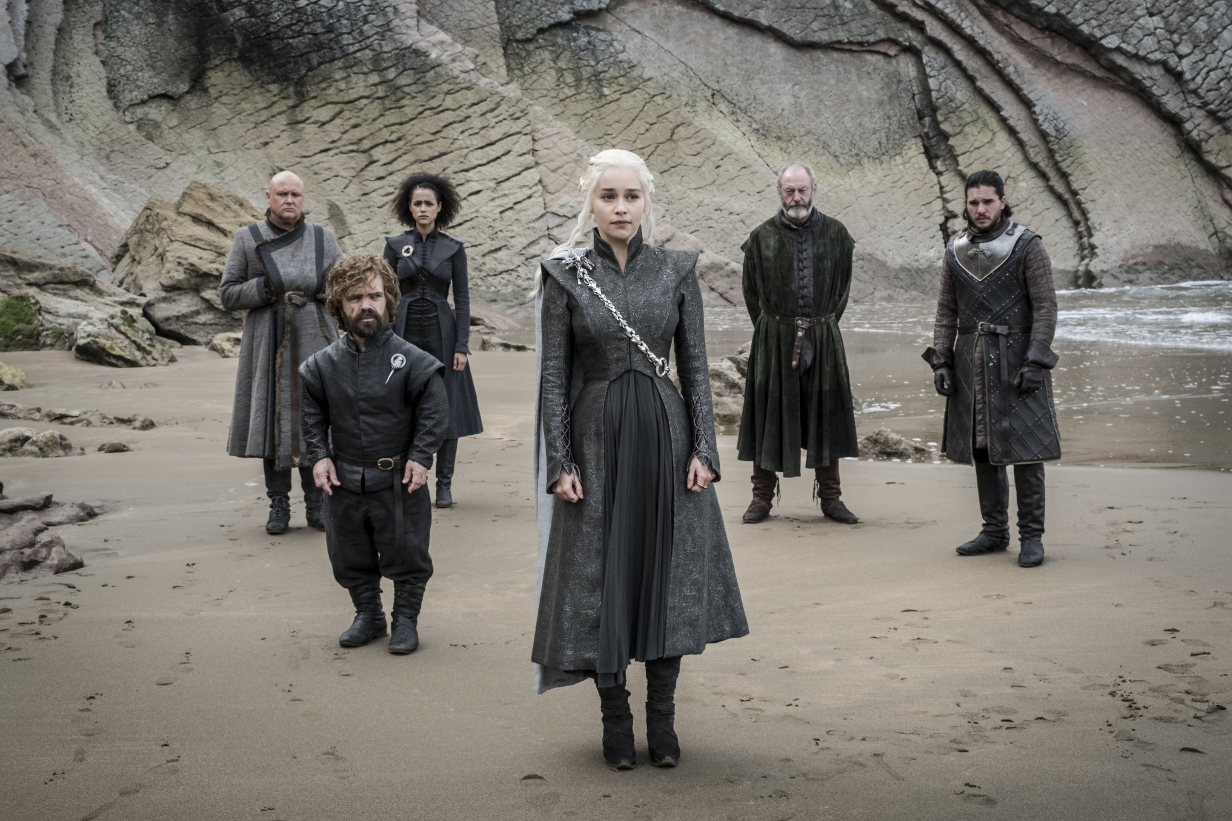Game of Thrones - Dany, Jon, Davos and Missandei
