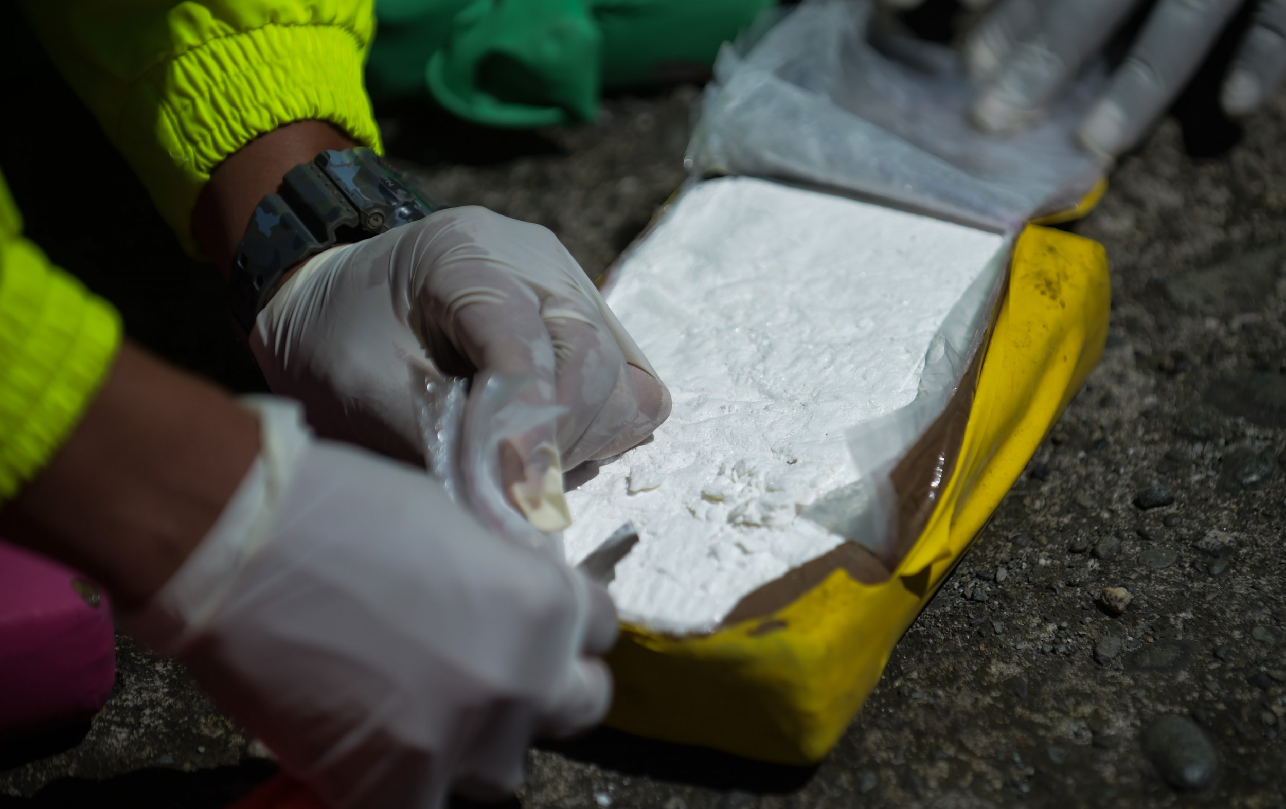 Colombia police cocaine