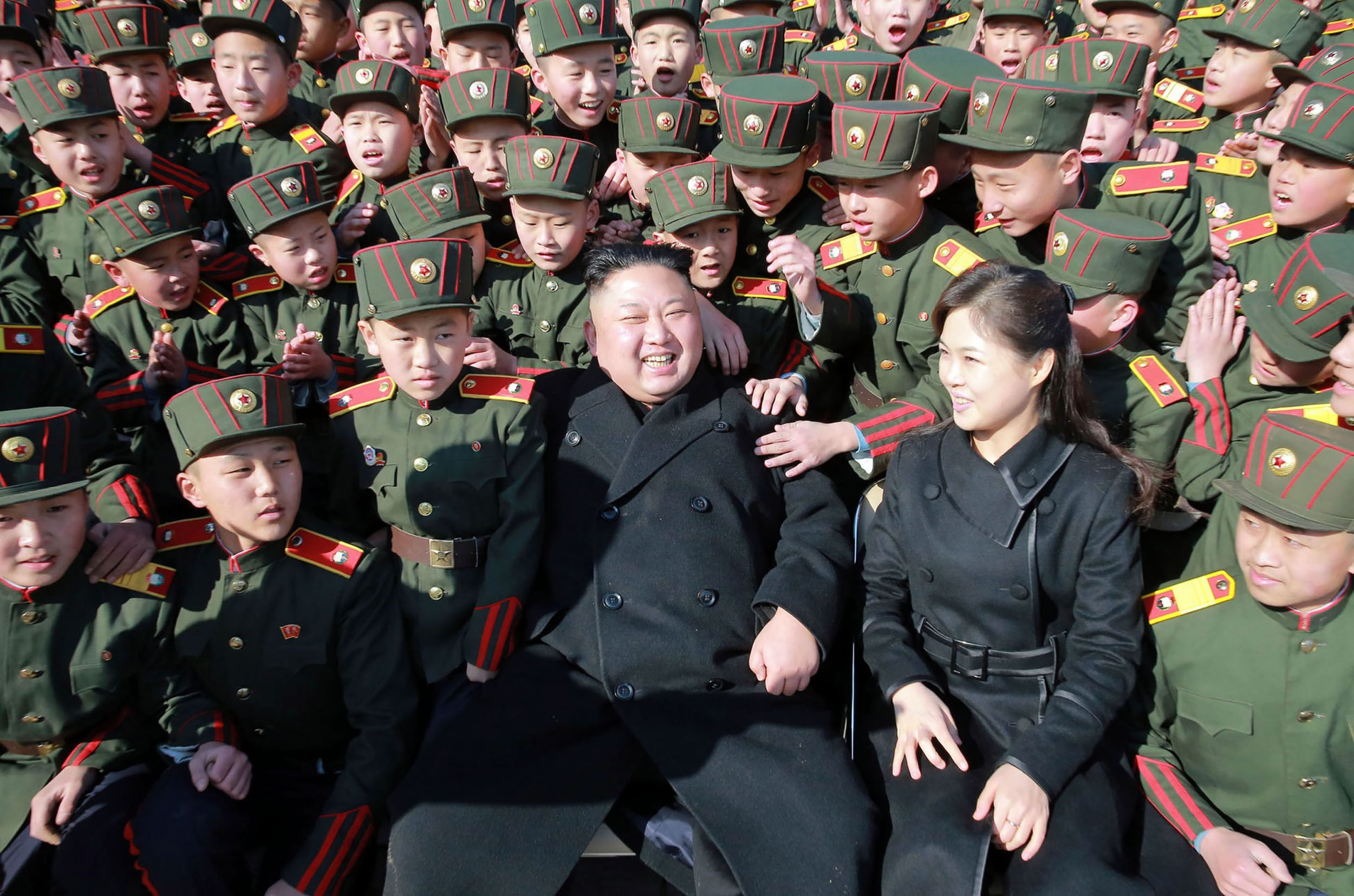 Kim Jong Un and wife