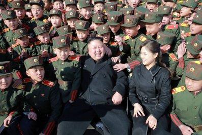 Kim Jong Un and wife