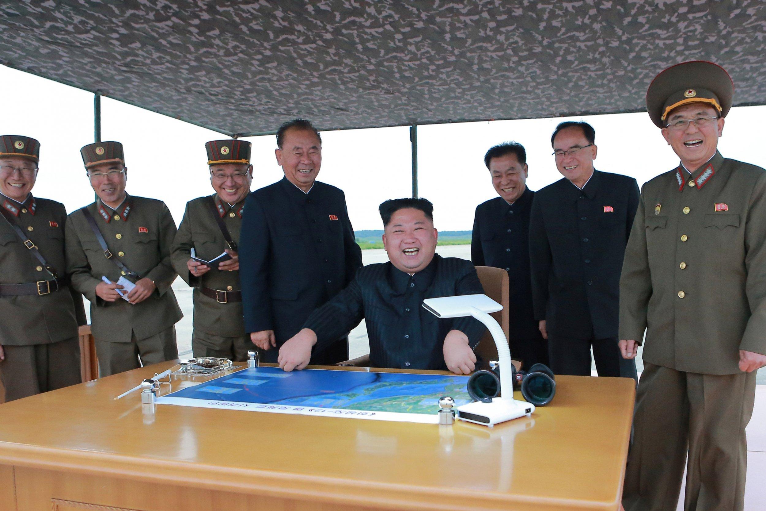 Kim Jong Un post missile launch