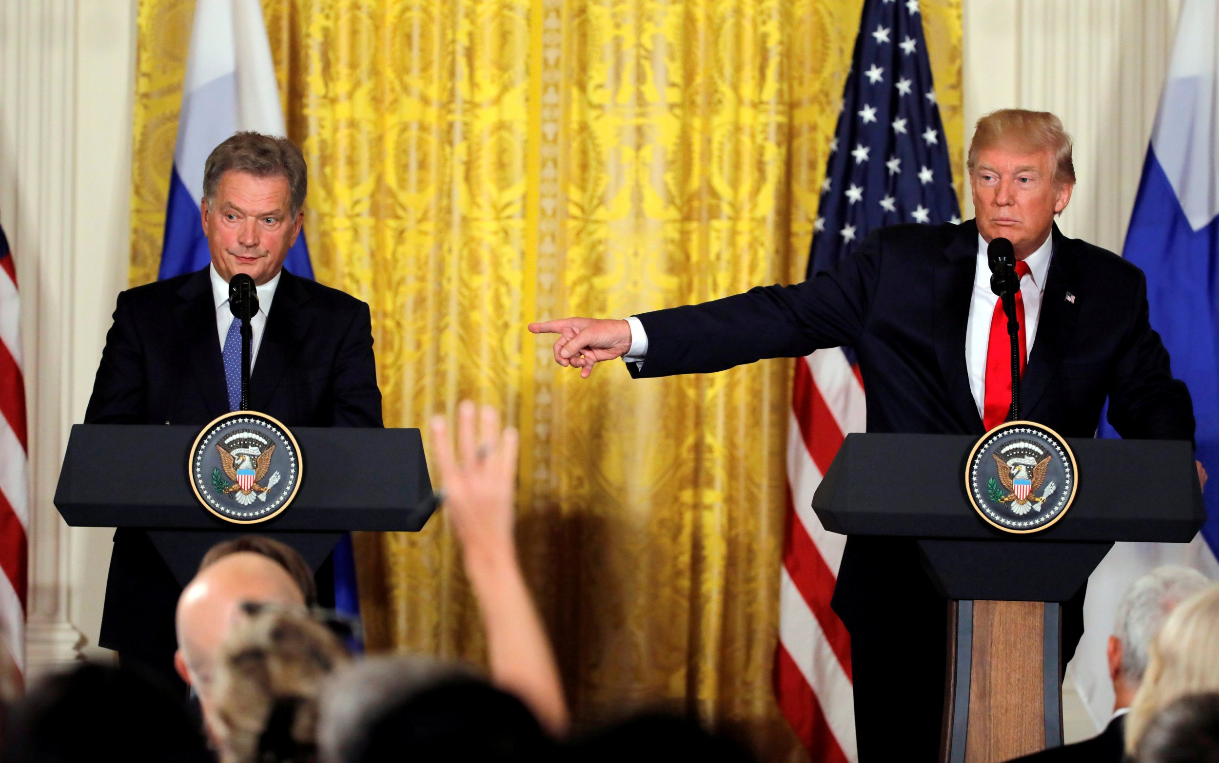 Donald Trump and Sauli Niinisto
