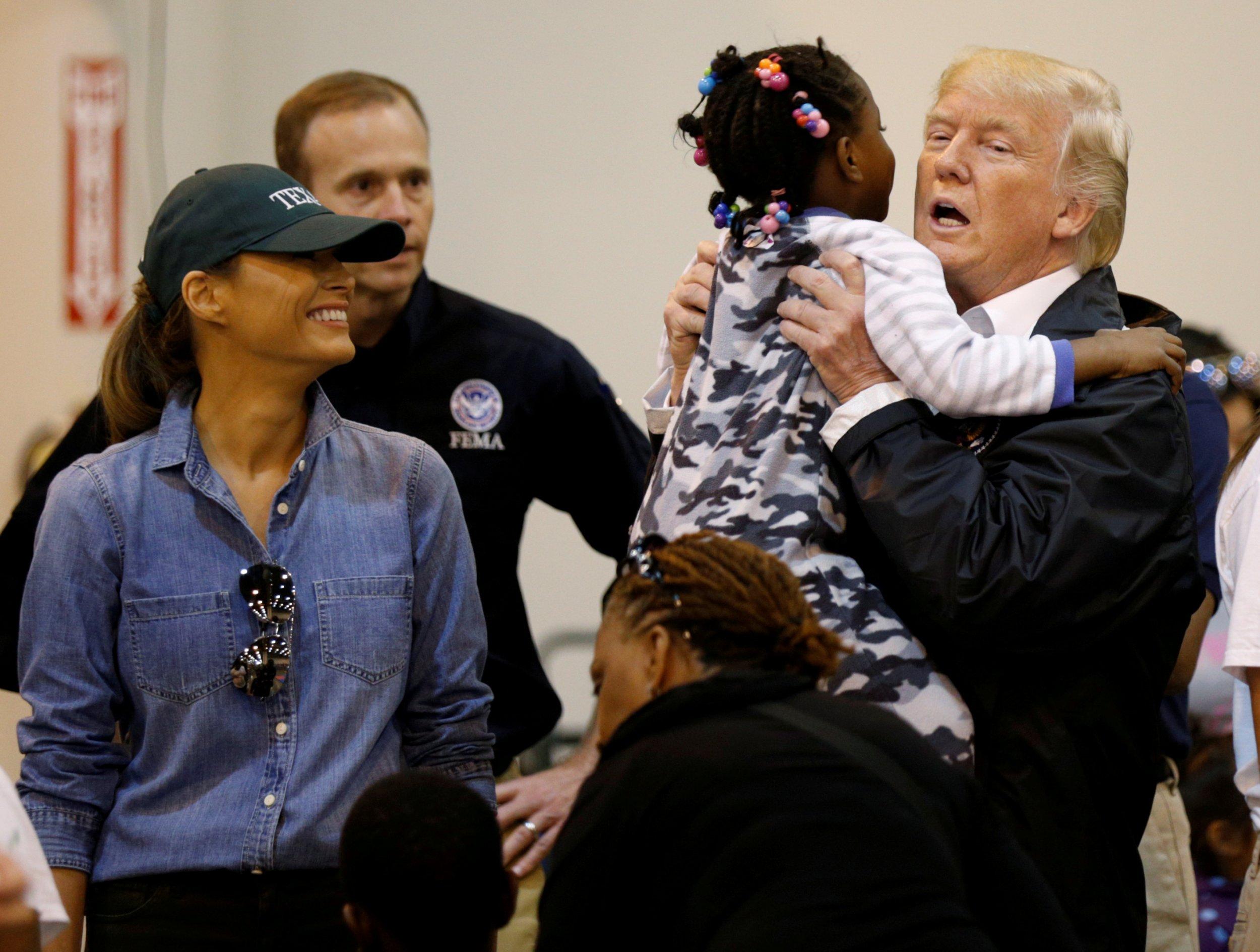 Trump Harvey survivors