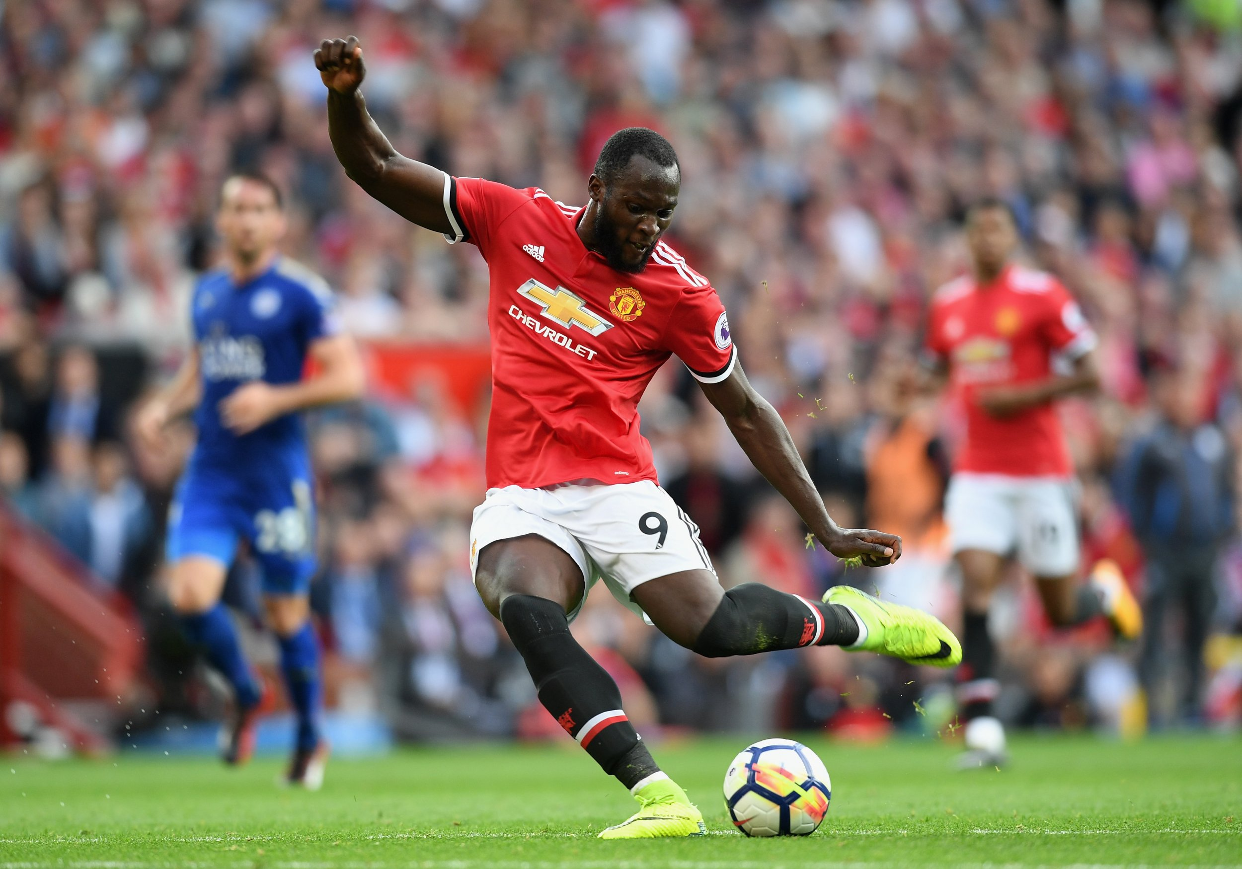 Romelu Lukaku of Manchester United in Manchester, England, August 26.