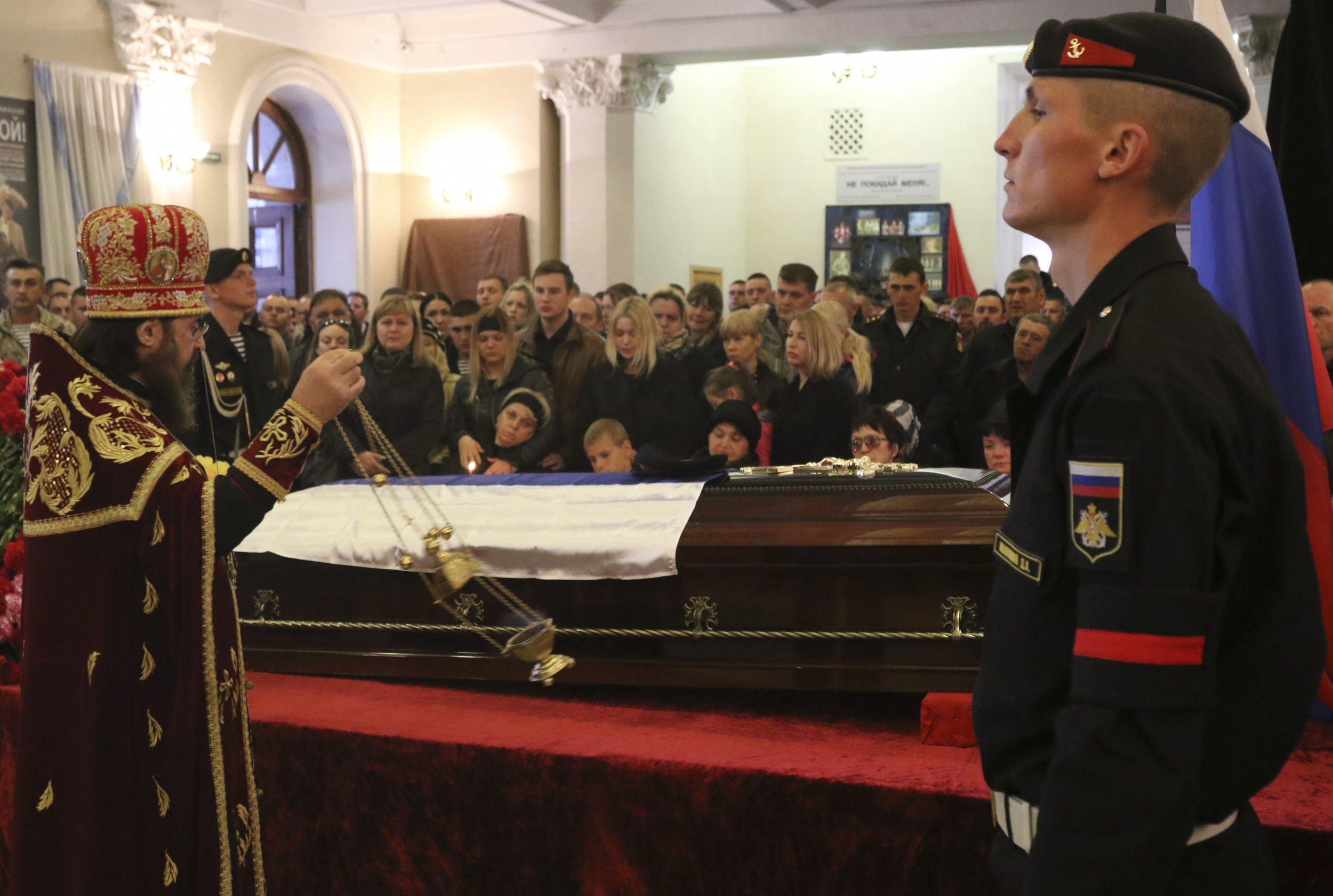 Russian serviceman's funeral