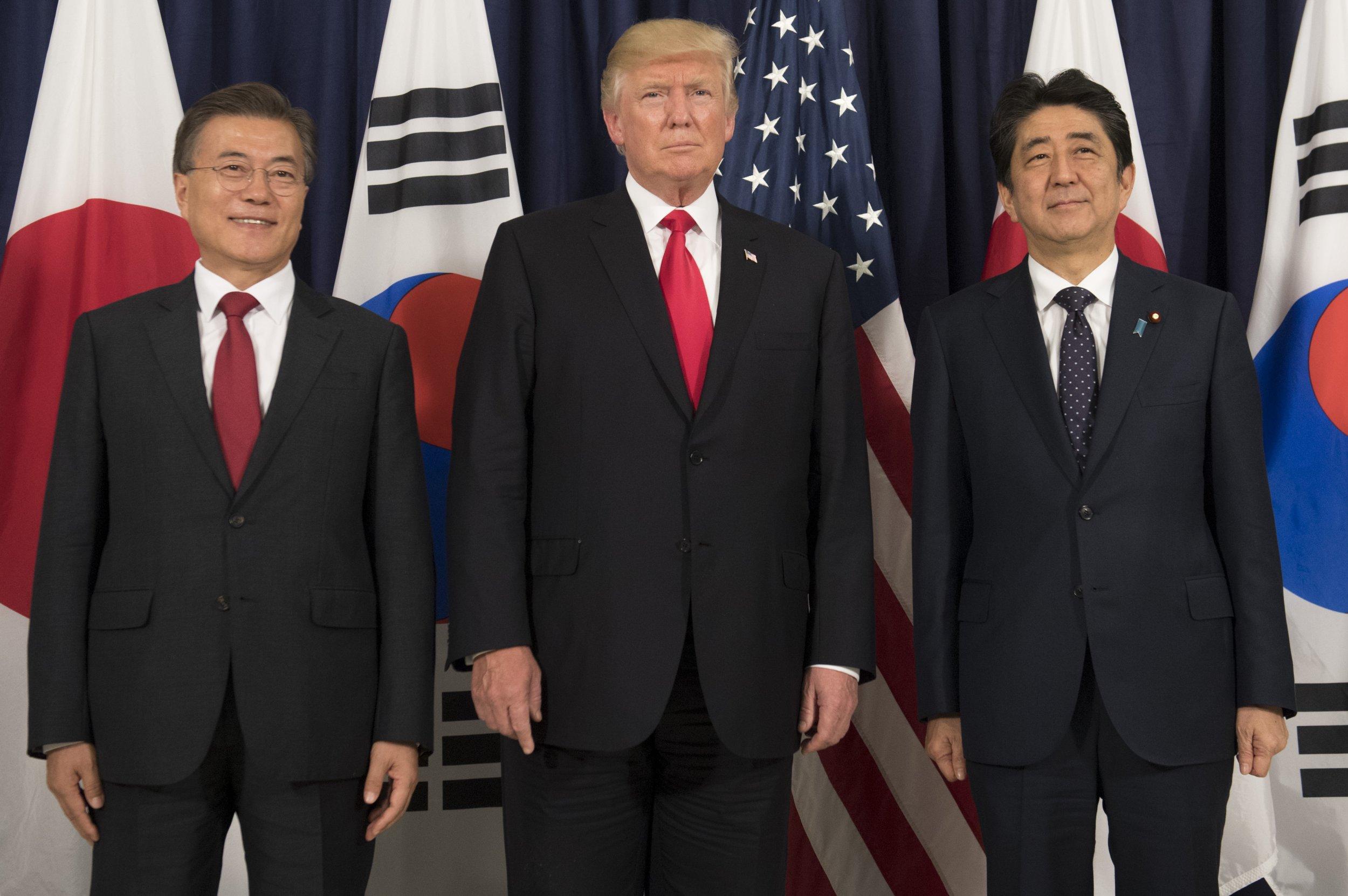 U.S. South Korea Japan leaders
