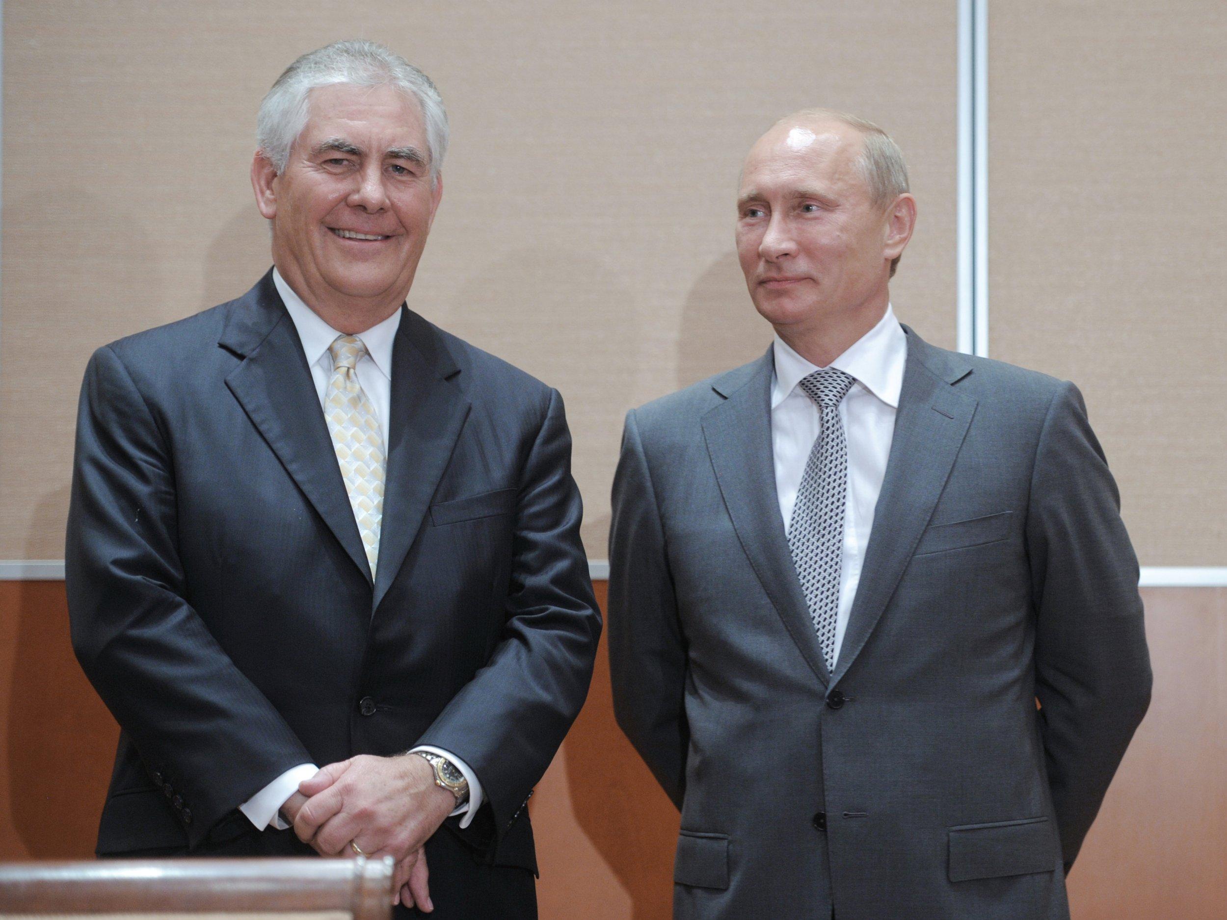 Tillerson and Putin