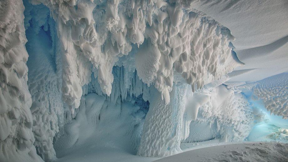 Antarctica ice cave