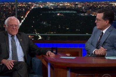 Bernie Sanders on Colbert
