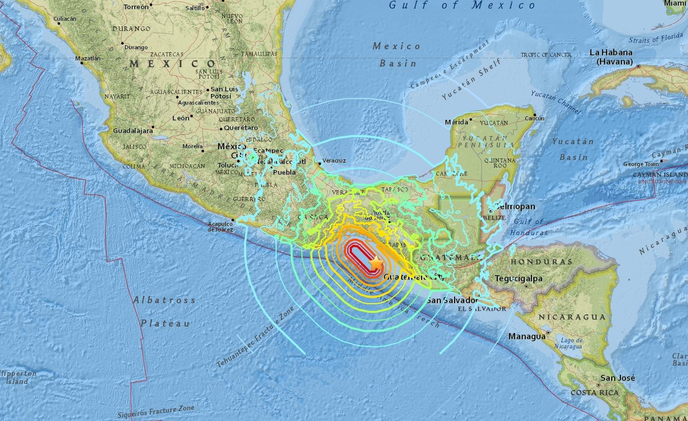 mexico earthquake epicenter