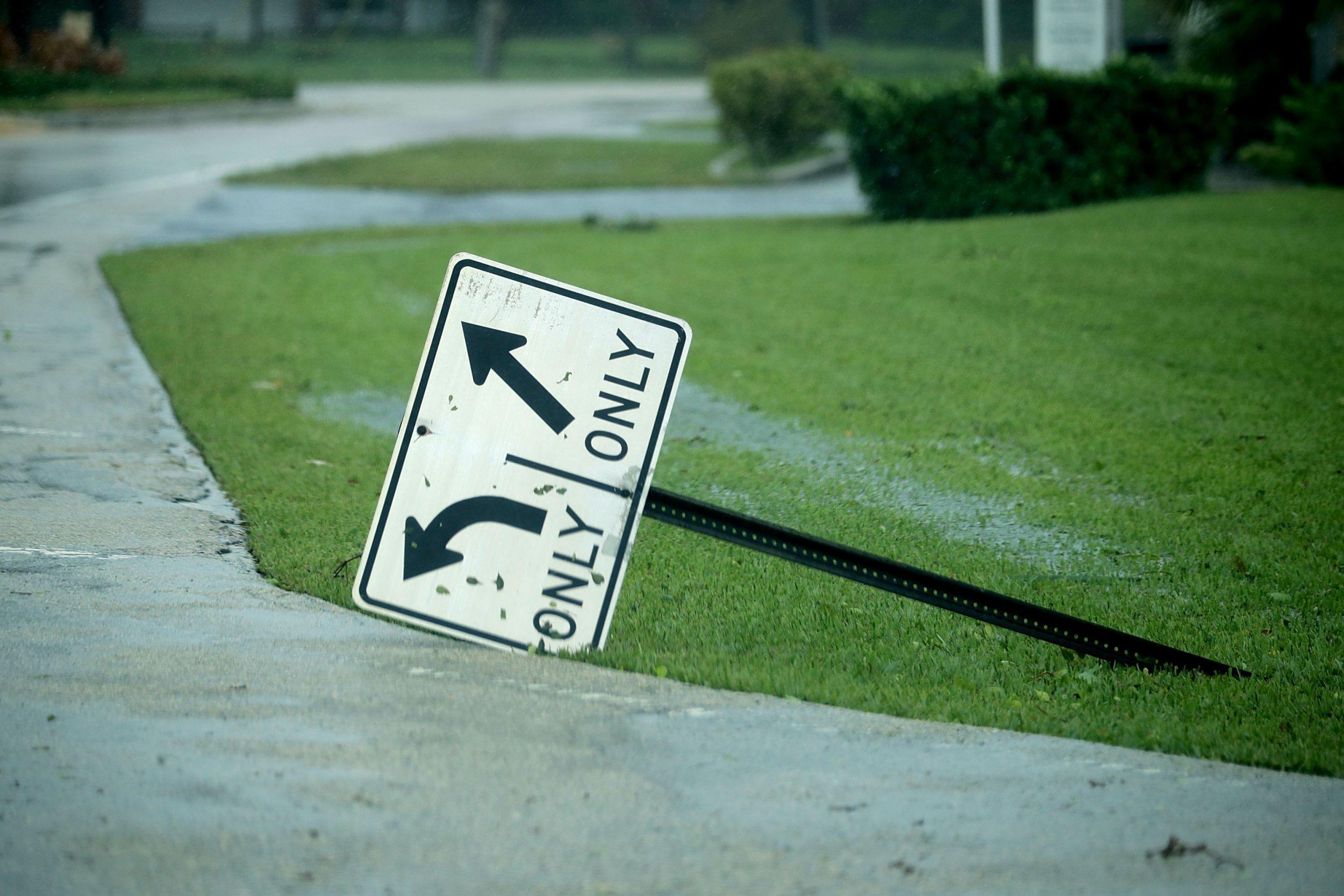 Florida street sign Irma