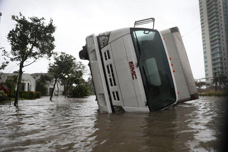 Miami Irma truck