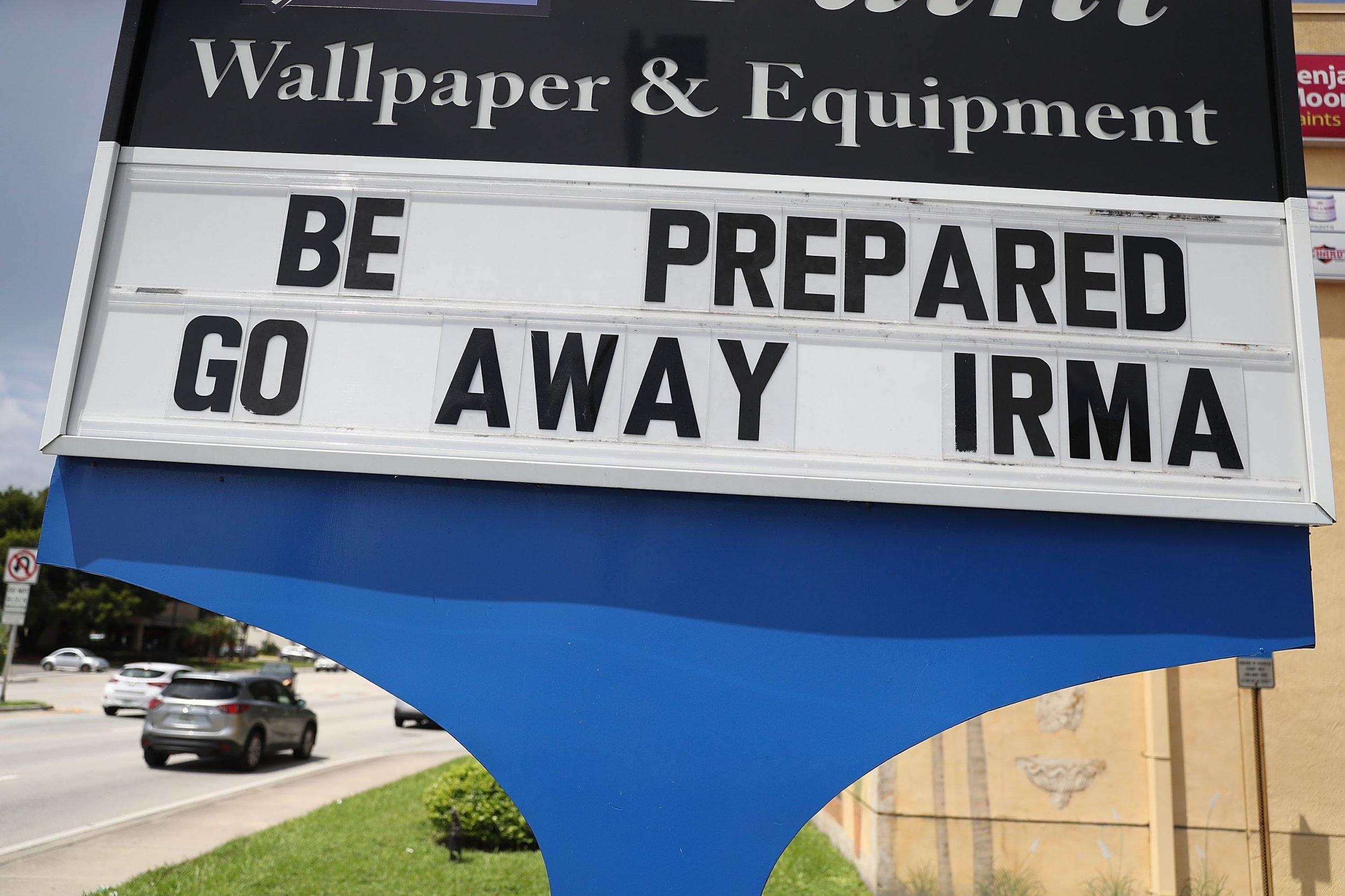 Hurricane Irma sign