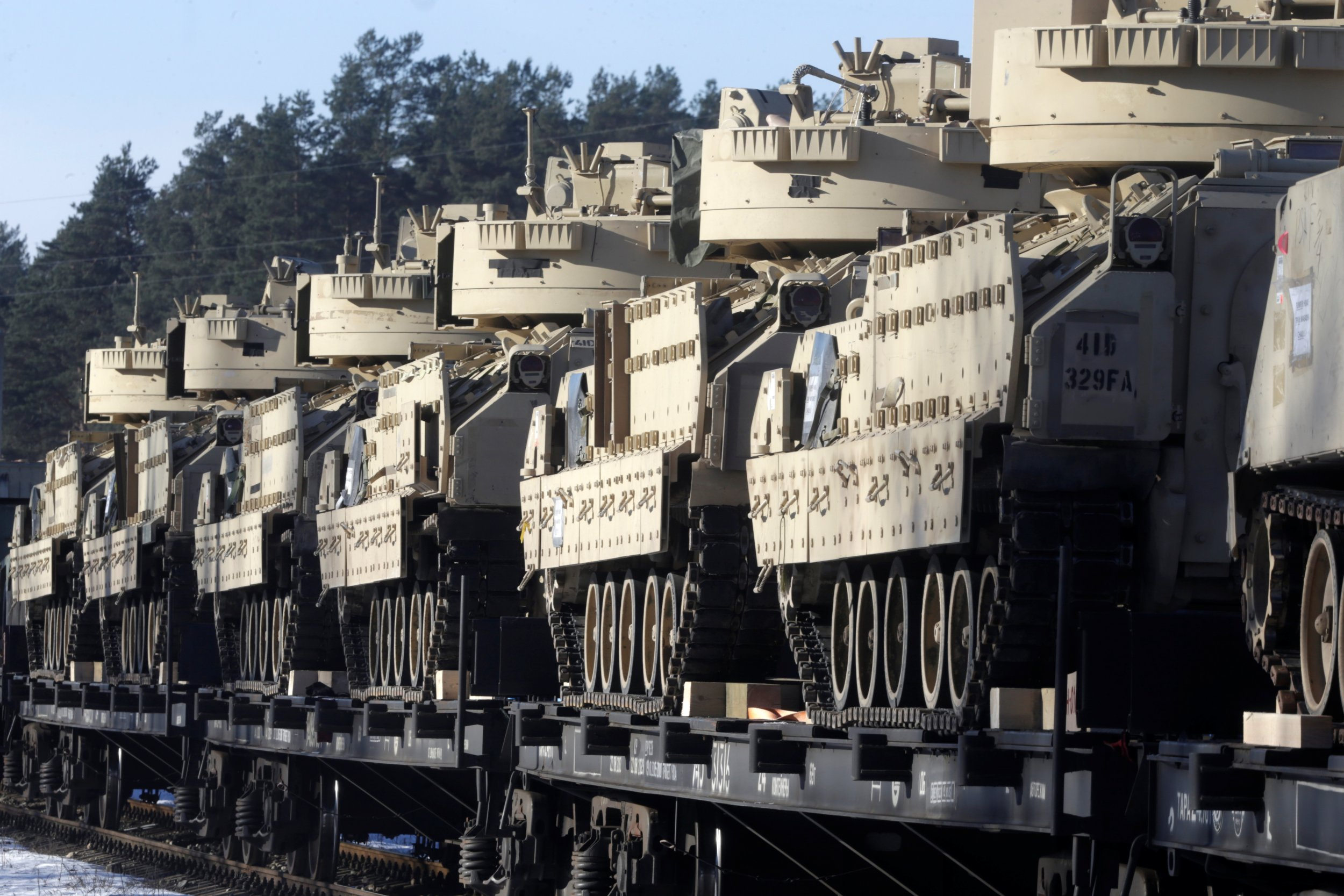 U.S. Bradley vehicles