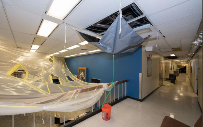 Johnson Center Damage