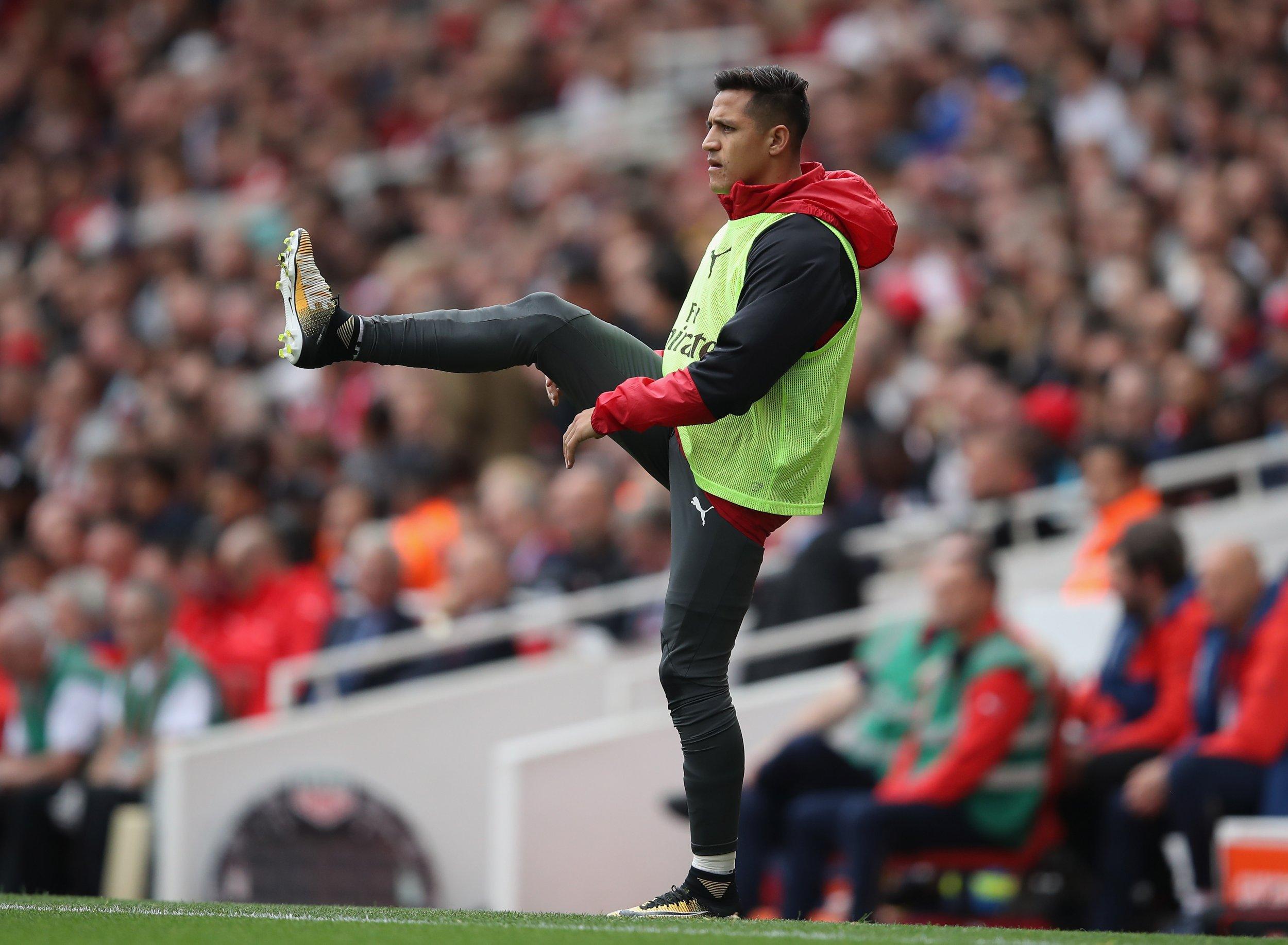 Arsenal striker Alexis Sanchez.