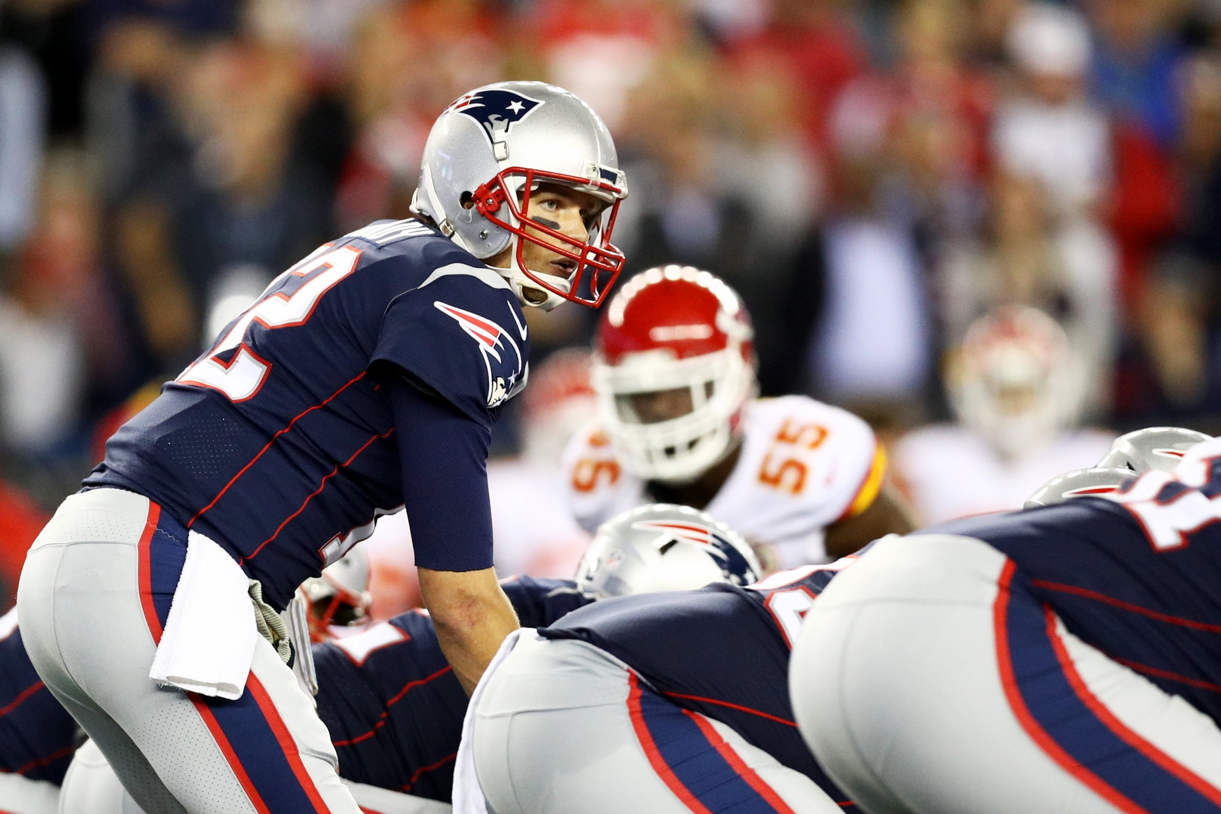 Tom Brady of the New England Patriots at Gillette Stadium, Massachusetts, September 7.