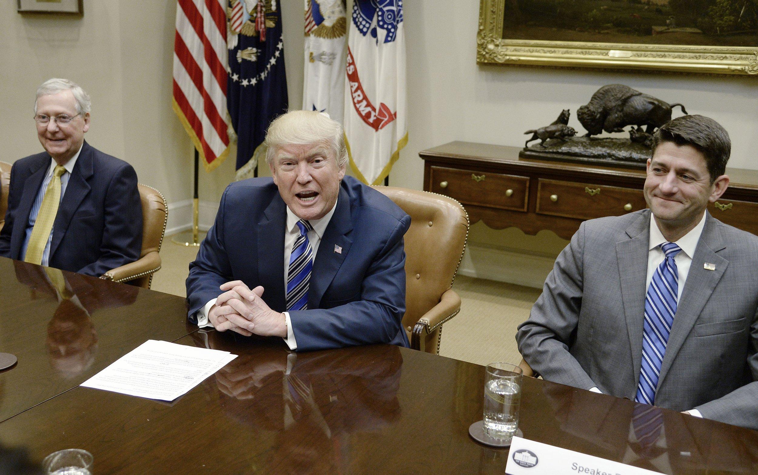 Mitch McConnell, Donald Trump, Paul Ryan