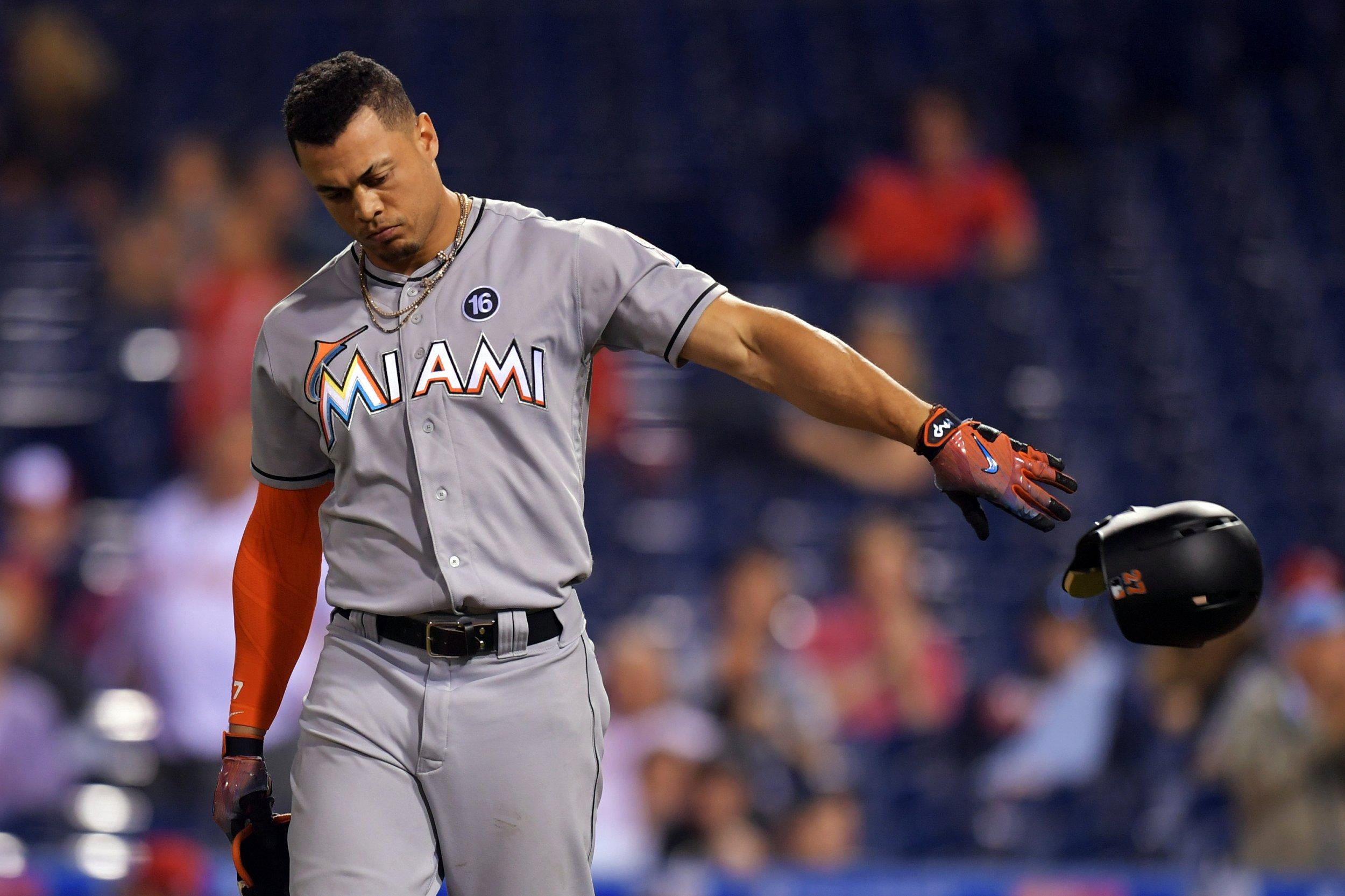 Miami marlins outfielder giancarlo stanton.