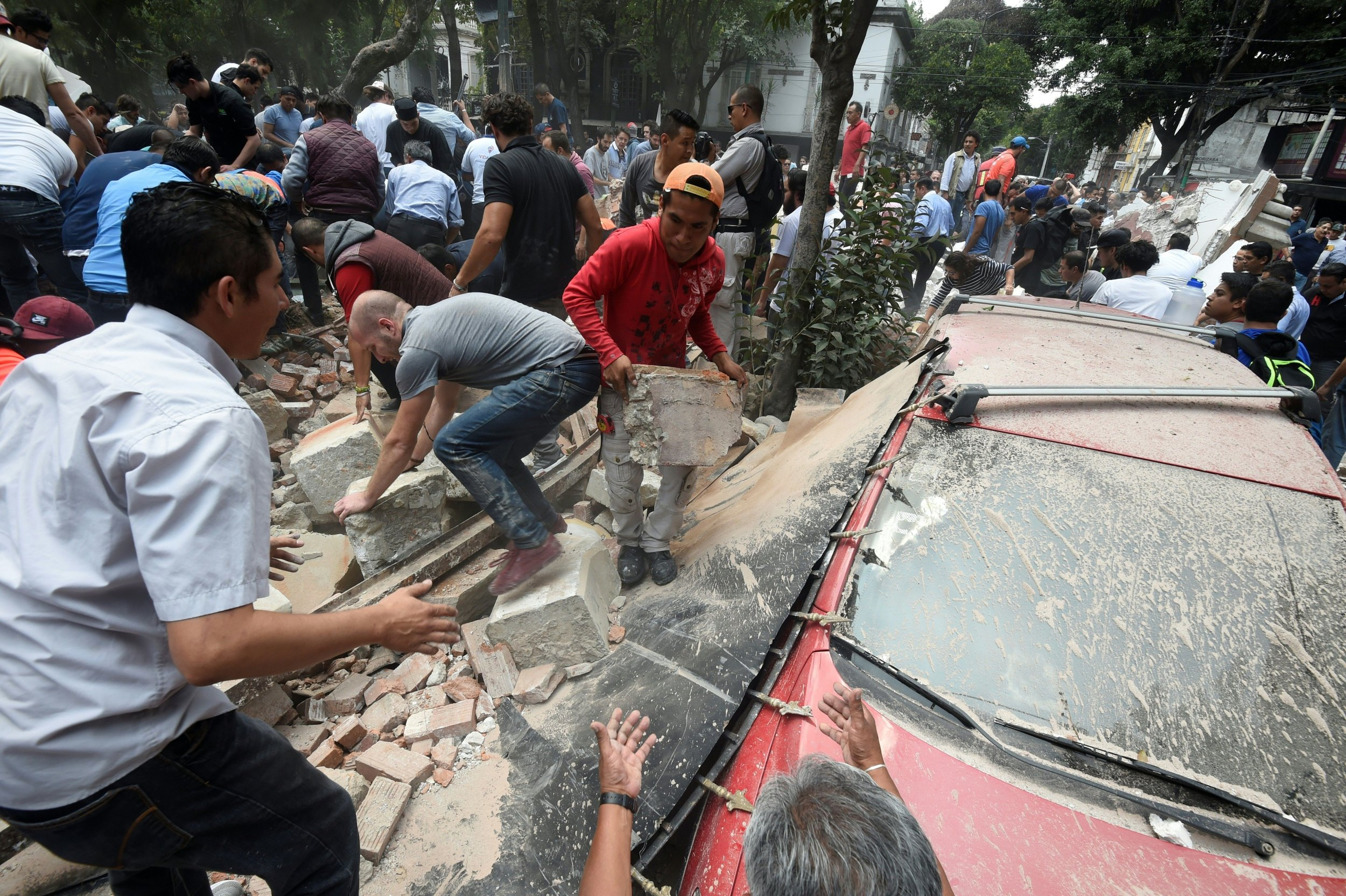 Rubble from Mexcio City earthquake