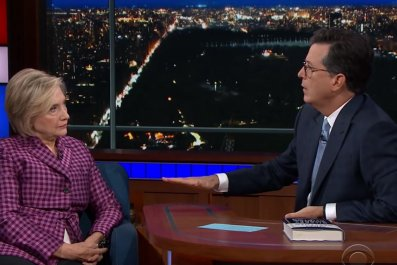 Hillary Clinton on Stephen Colbert's Late Show