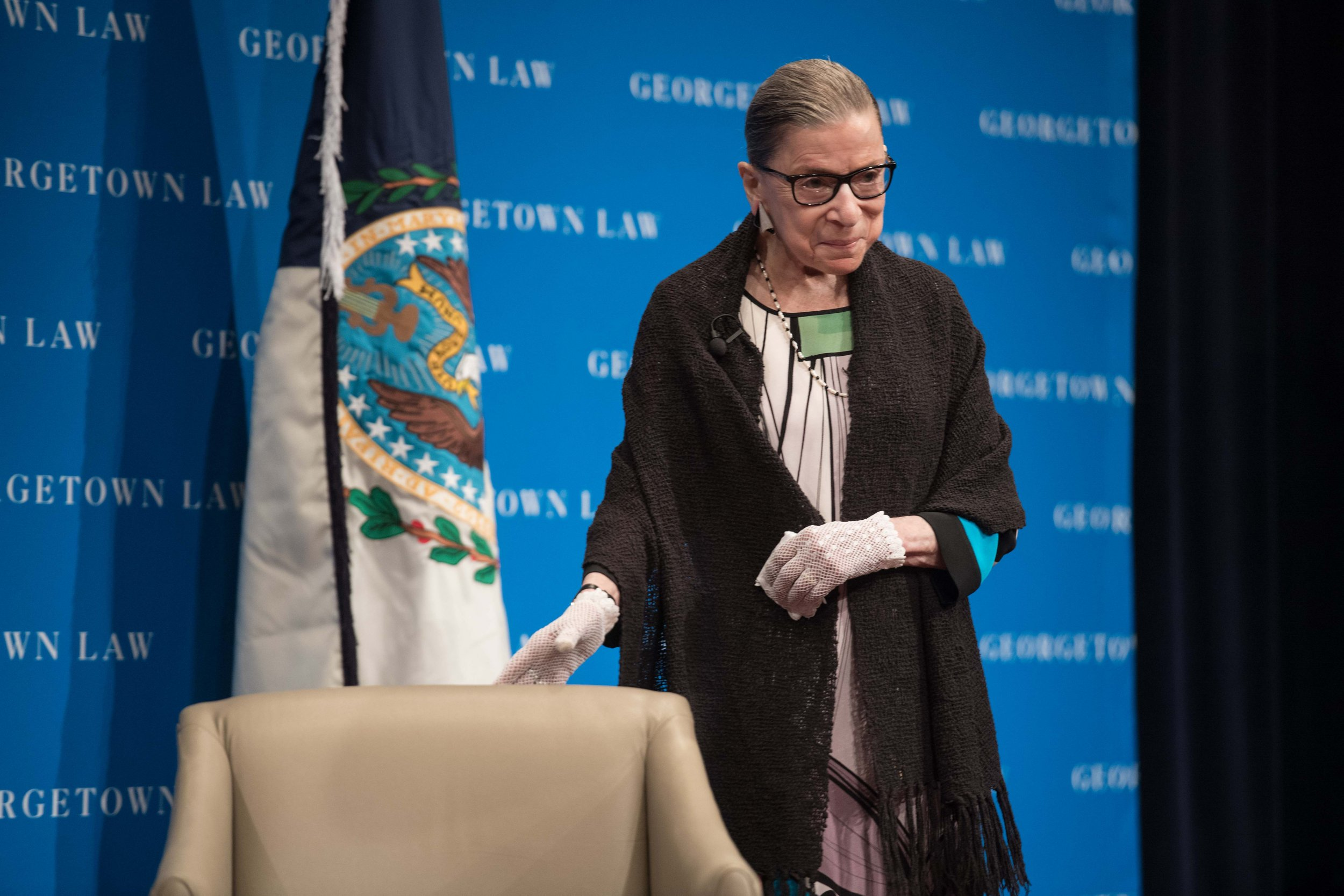 "Supreme Court Justice Ruth Bader Ginsburg says the ""macho atmosphere"" of the U.S. election hindered Hillary Clinton"