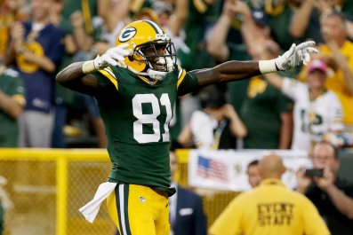 Geronimo Allison of the Green Bay Packers at Lambeau Field, Green Bay, September 24.