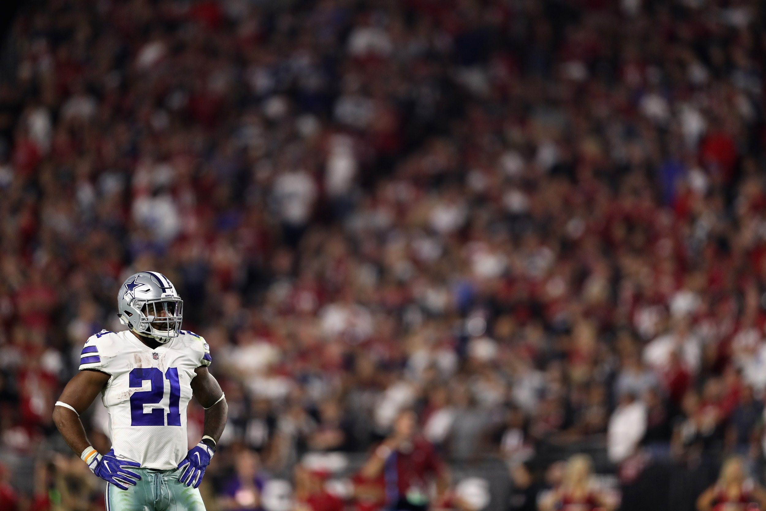 Running back Ezekiel Elliott of the Dallas Cowboys at the University of Phoenix Stadium, Glendale, September 25.