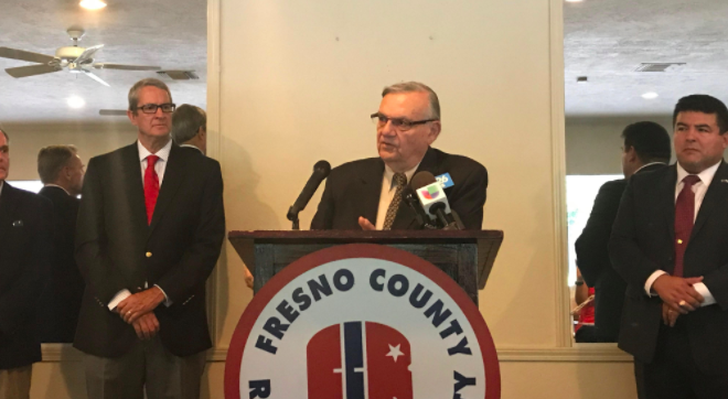 Joe Arpaio speaking in Fresno, California.