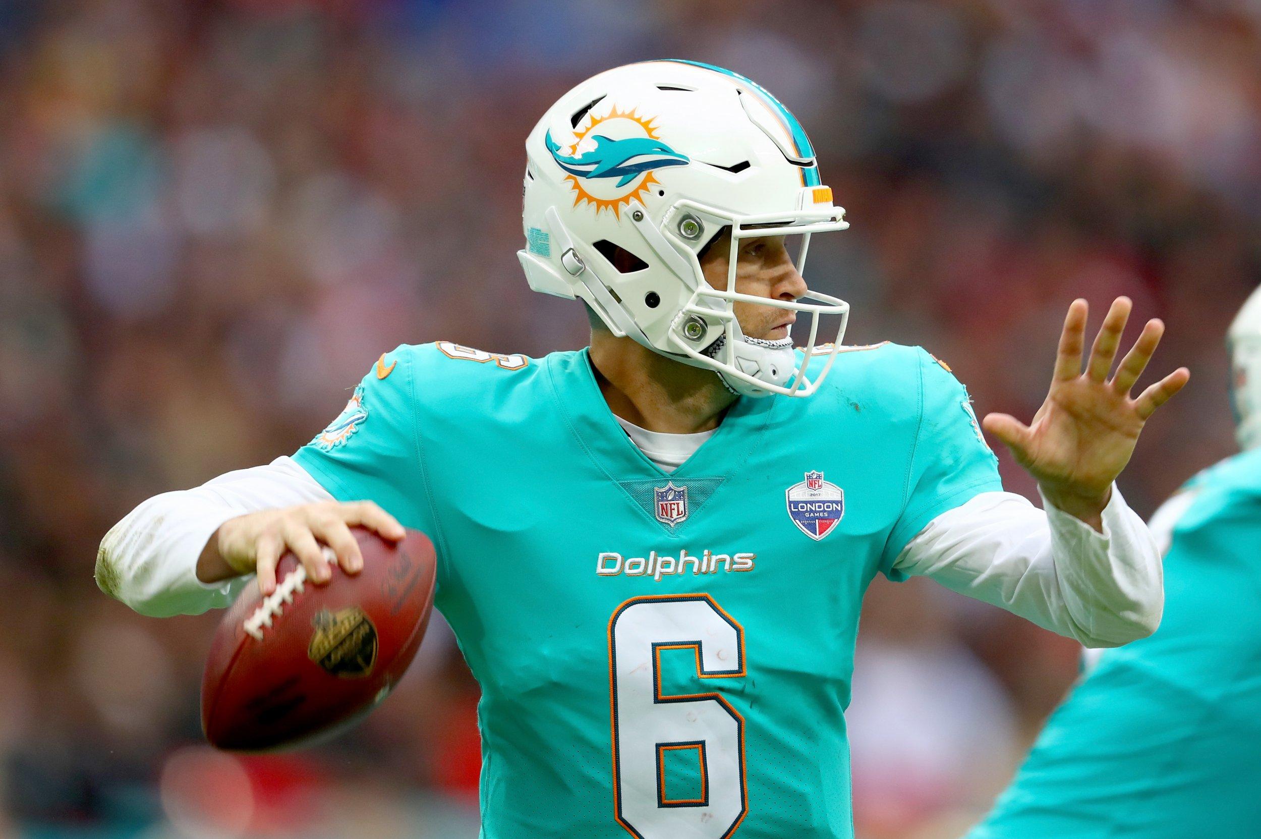 Miami Dolphins quarterback Jay Cutler.