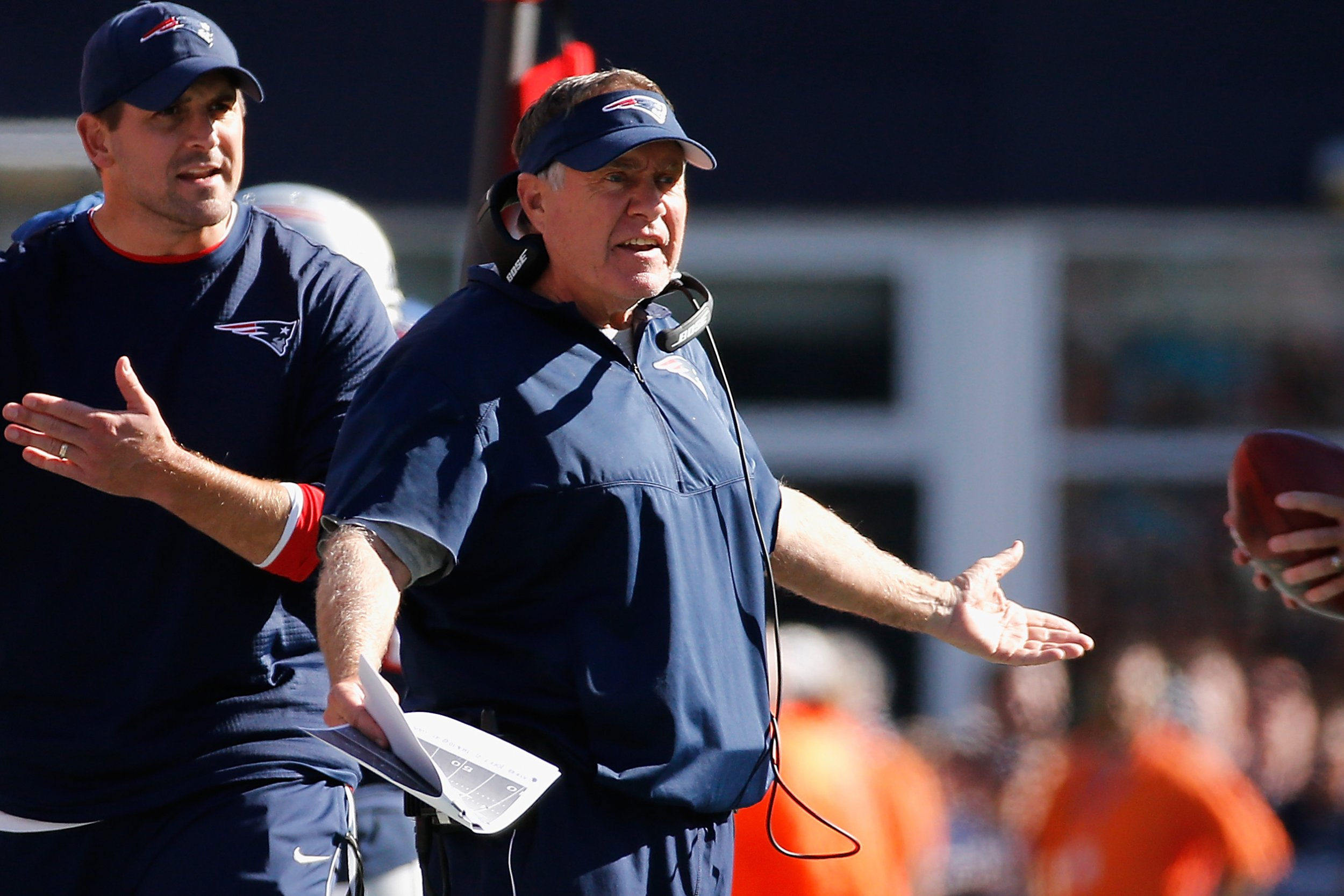 New England Patriots head coach Bill Belichick at Gillette Stadium, Massachusetts, October 1.