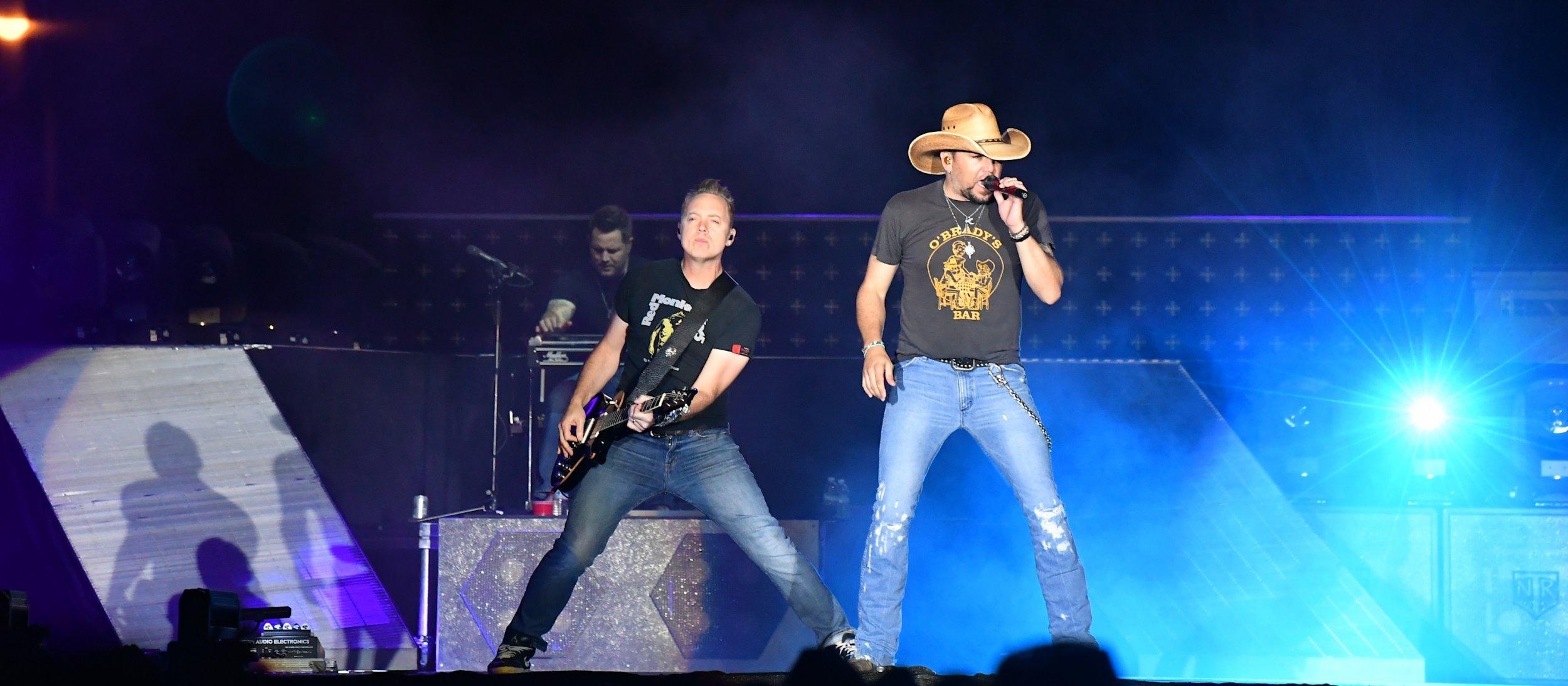 Jason Aldean performs at Route 91 festival in Las Vegas