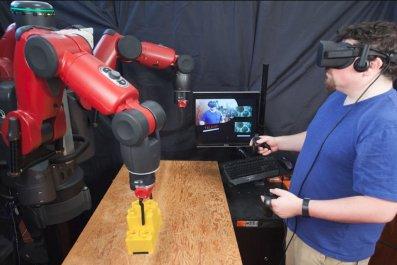 robot virtual reality MIT VR