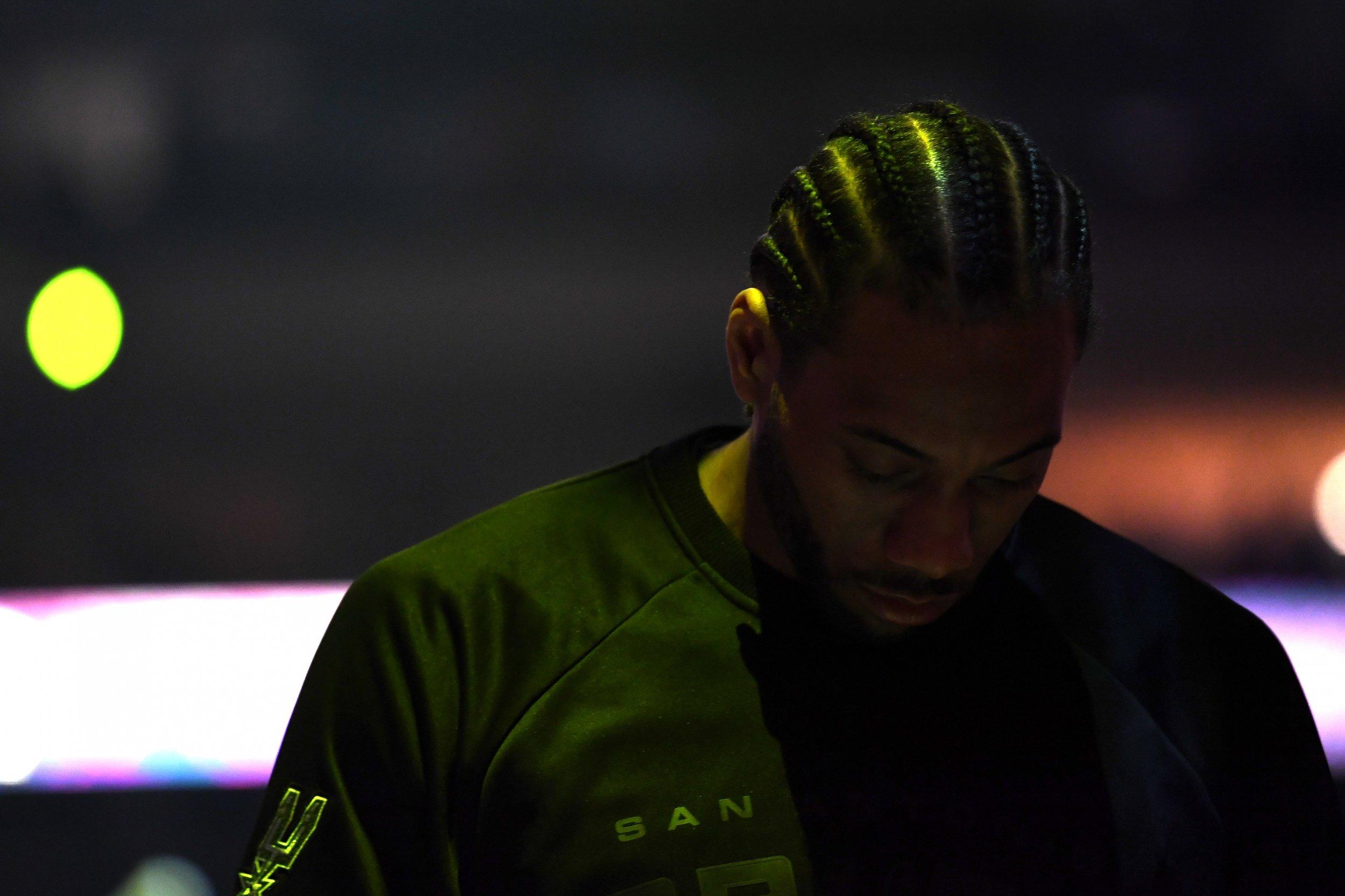 San Antonio Spurs point guard Kawhi Leonard.