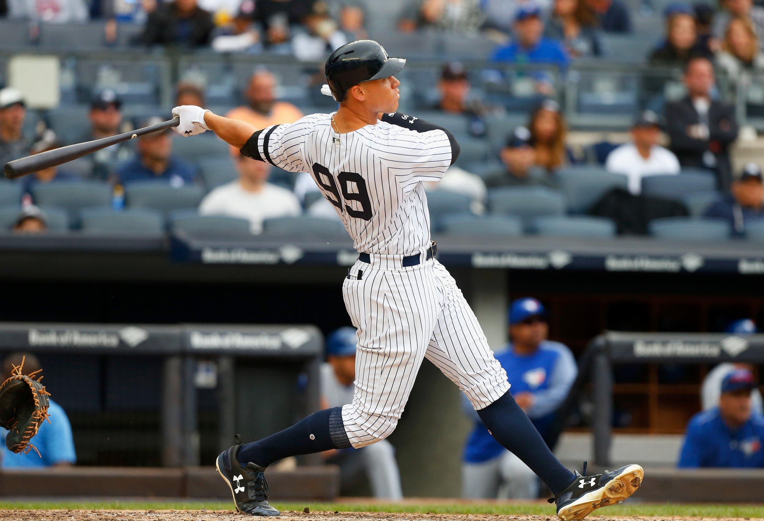 Aaron Judge of the New York Yankees at Yankee Stadium, New York City, September 30.
