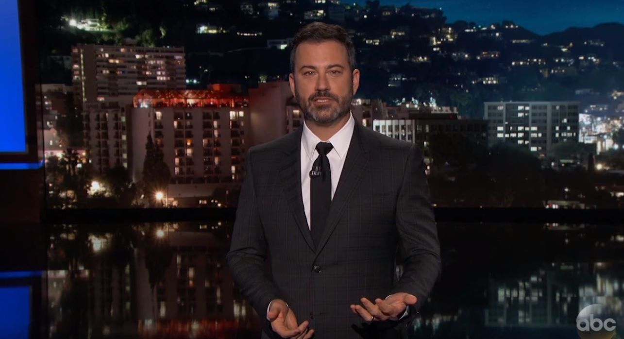 Jimmy Kimmel talks gun control