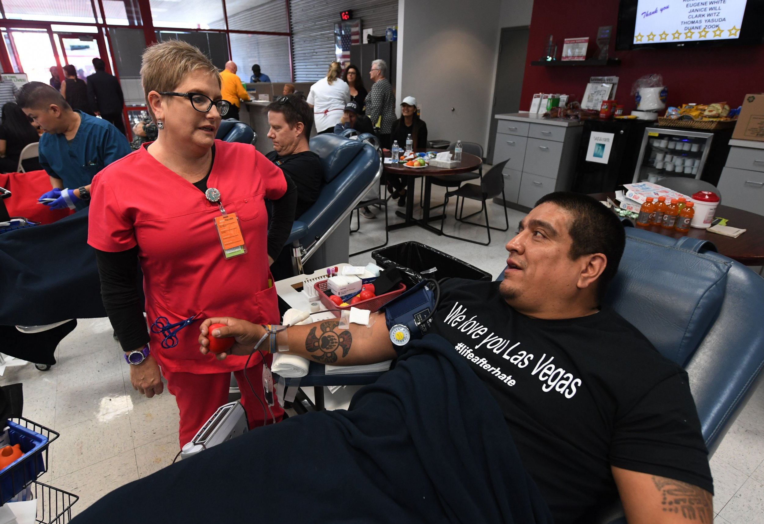 people are giving too much blood after the las vegas